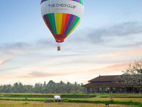 The Chedi Club Ubud Launches Balloons over Bali