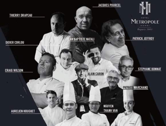 13 Chefs, 8 Michelin Stars Line Up for Culinary Stars 2018 at Metropole Hanoi