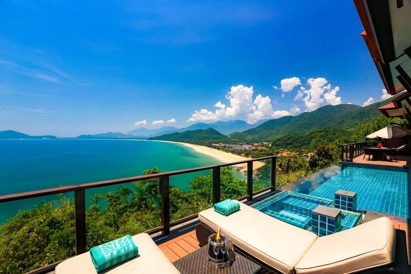 Each of the Banyan Tree Residences offers a private infinity pool with incredible views back over the bay