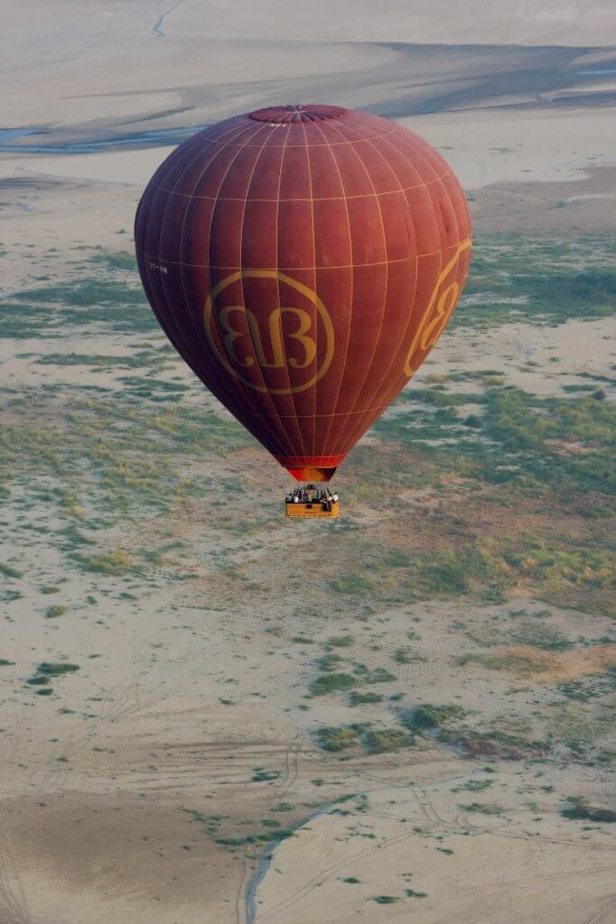 Hot-air balloons carry up to eight passengers